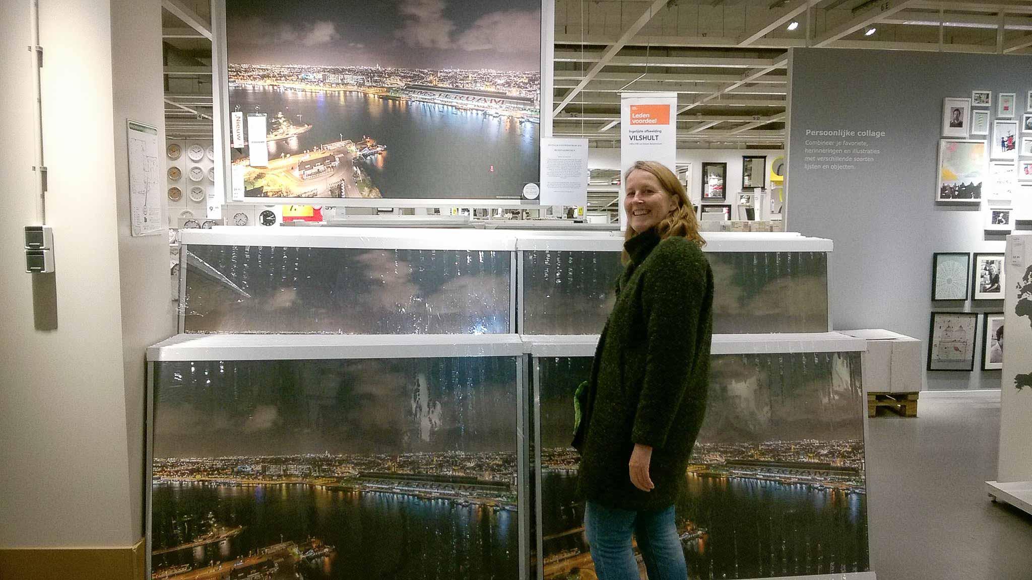 Mijn foto werd verkocht in IKEA
