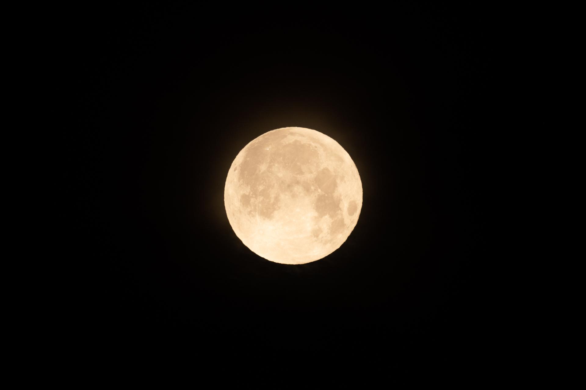 Volle maan fotograferen avondfotografie