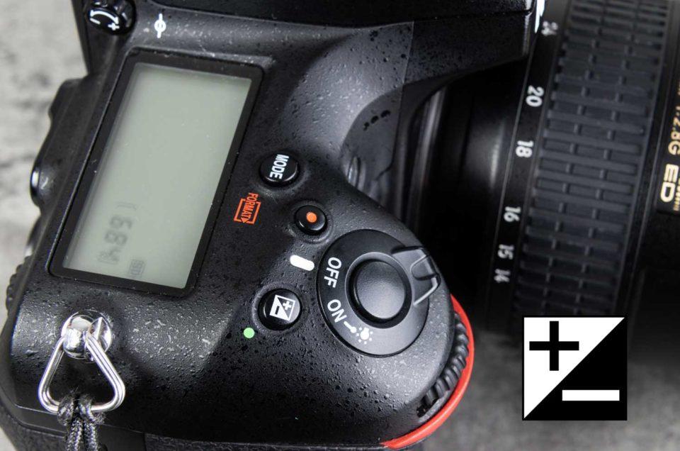 Belichtingscompensatie camera logo