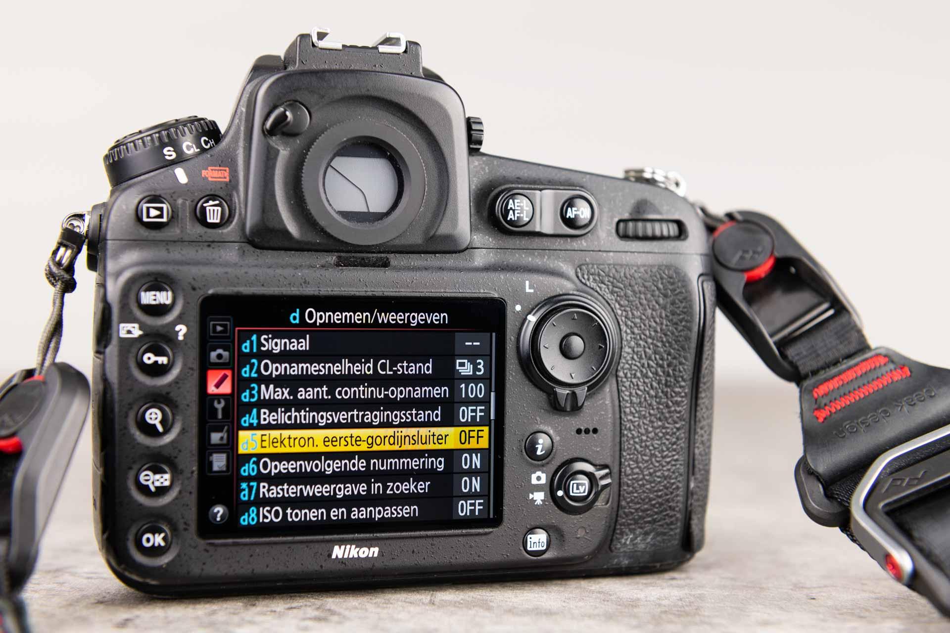 Spiegelopklapfunctie Nikon
