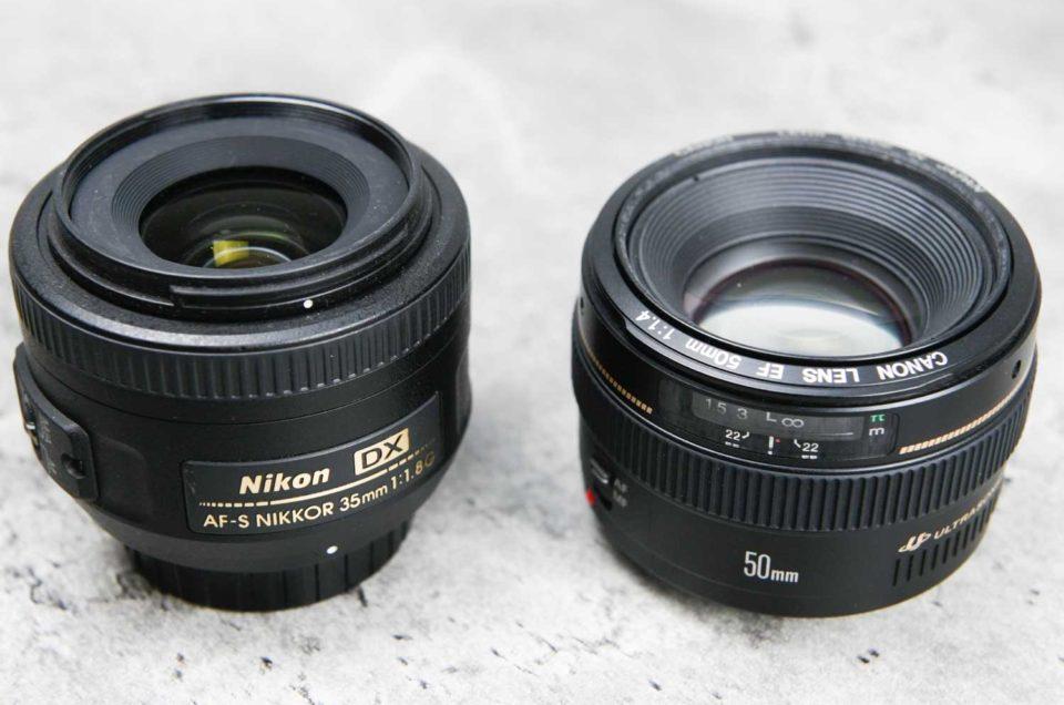 Prime lens Nikon Canon