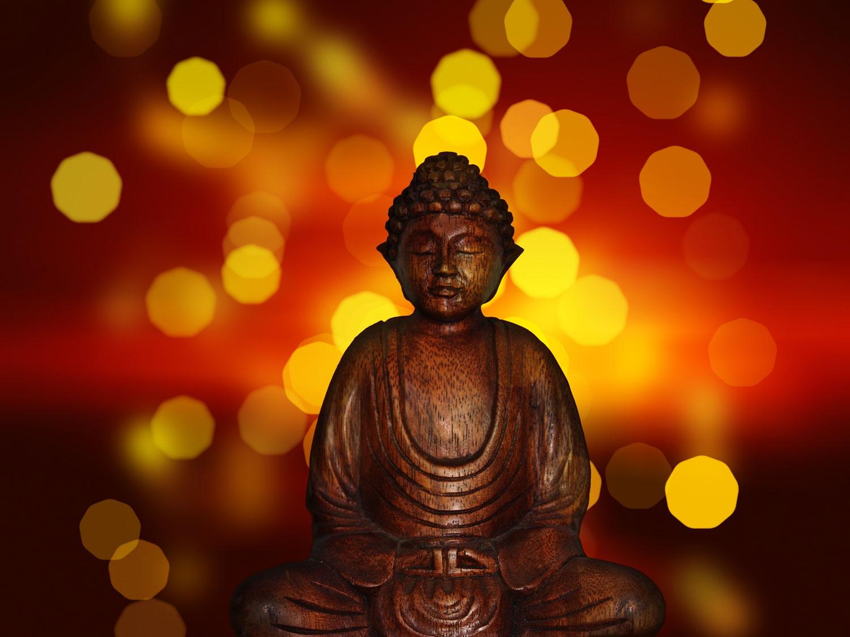 Bokeh boeddha
