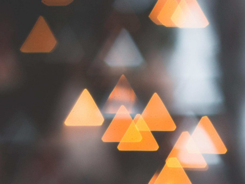 Driehoekjes bokeh