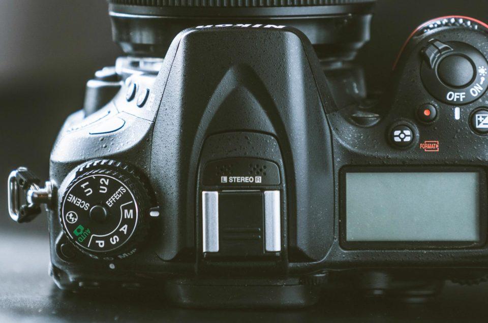 Instelwiel camera voorkeuzestanden
