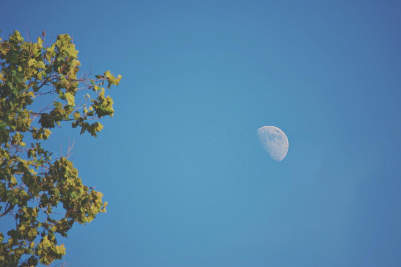 Maan fotograferen overdag