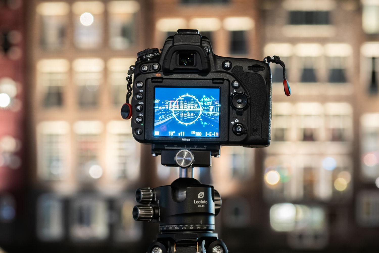 Camera op statief