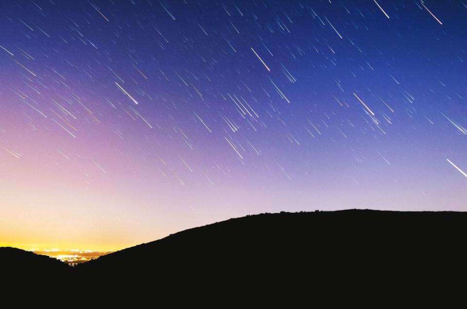 Perseïden-zwerm, vallende sterren fotograferen
