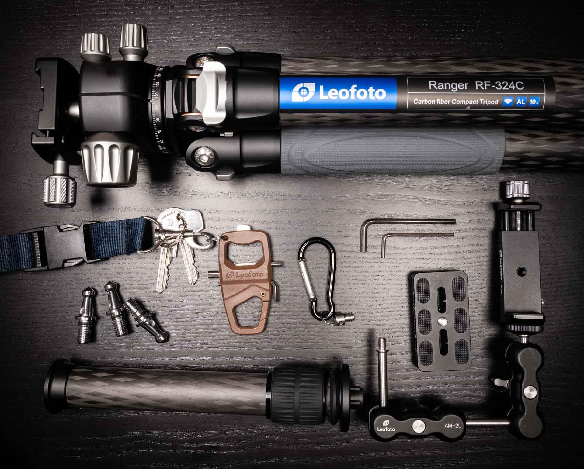Leofoto RF-324C + LH-40 balhoofd statief