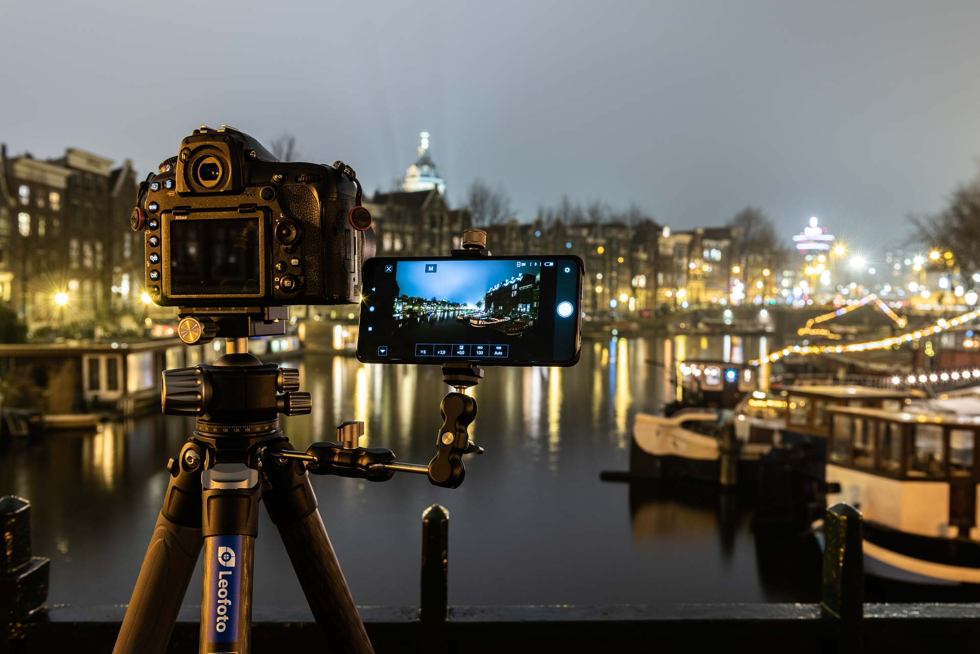 Nikon SnapBridge en Leofoto Magic Arm