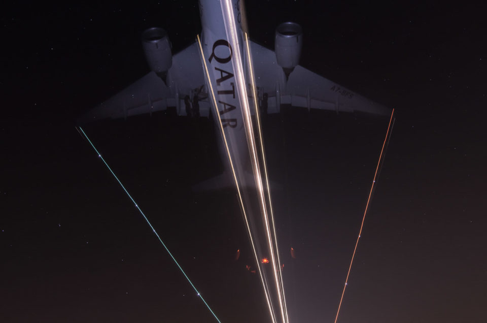 Airplane long exposure