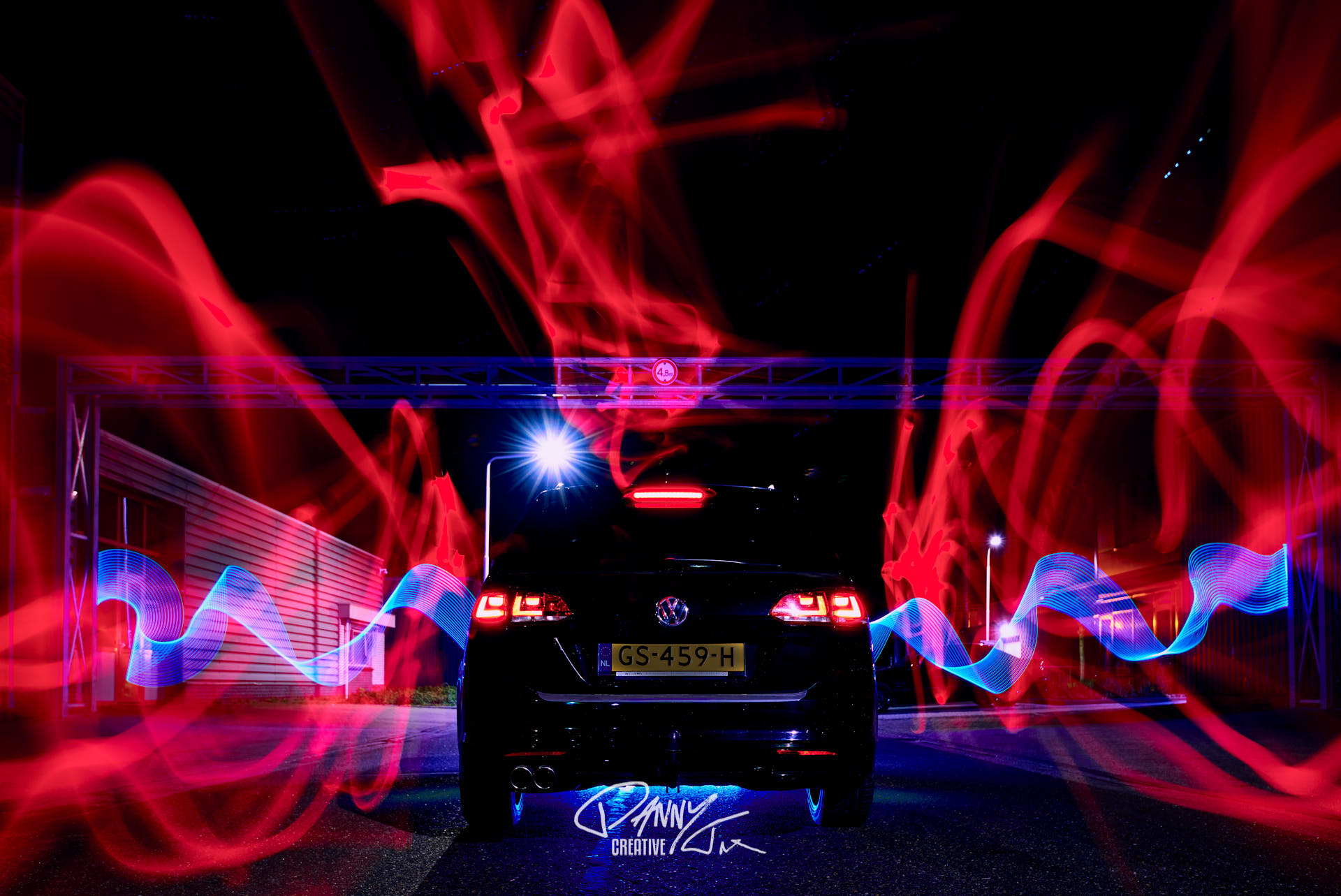 Car light painting