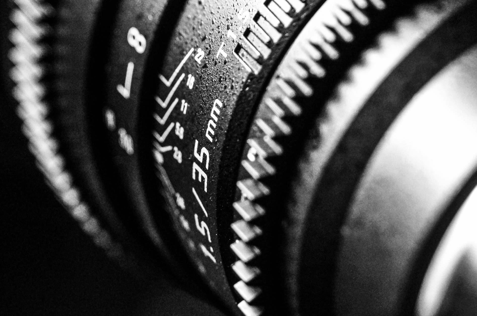 Getallen op een lens