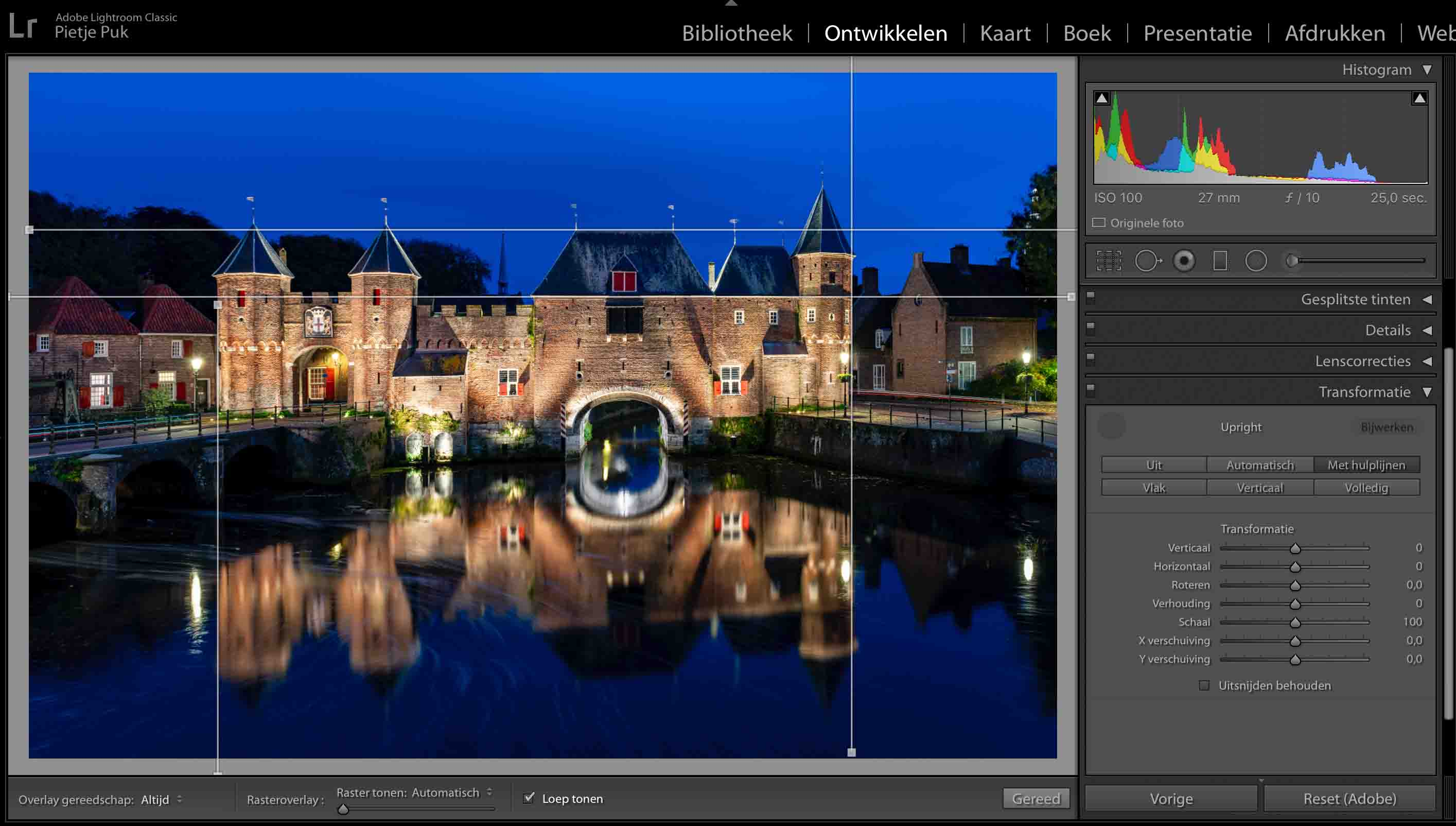 Transformatie in Lightroom