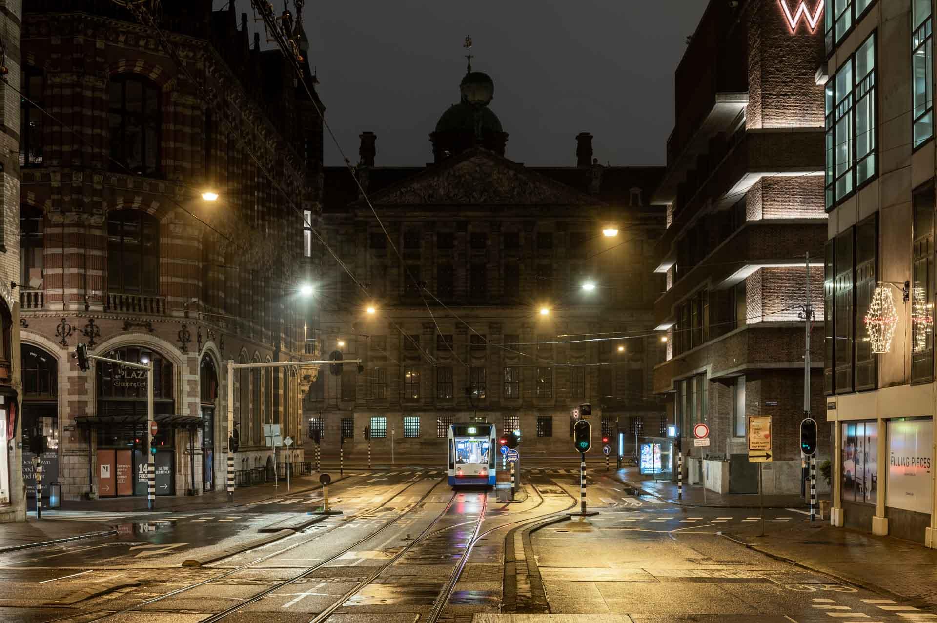 Avondklok in Amsterdam