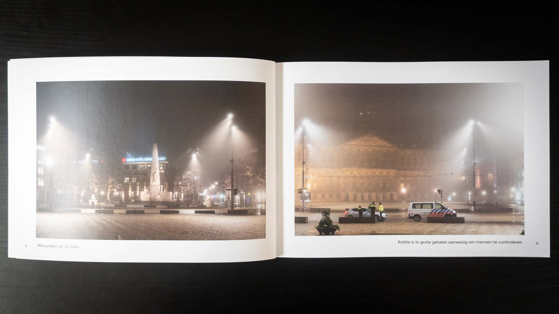 Fotoboek avondklok Amsterdam corona